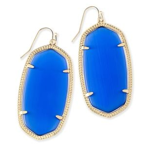 Kendra Scott Danielle Earrings in Cobalt and Gold